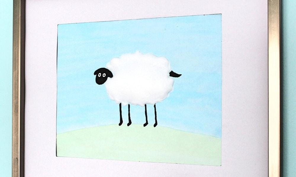 Puffy Paint Lamb Craft