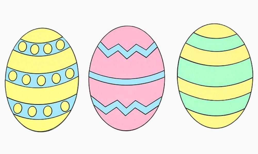 Cardstock Easter Egg Craft