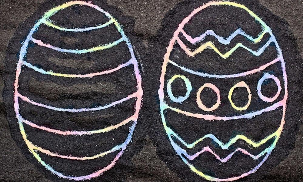 Raised Salt Watercolor Easter Egg Craft