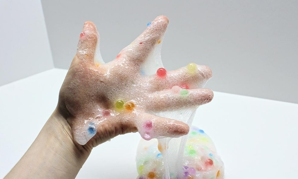 Water Bead Slime Using Contact Lens Solution
