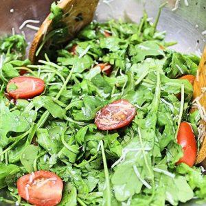 Summer Arugula Salad Recipe with Parmesan
