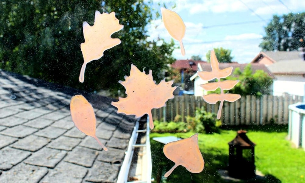 Magic Color Changing Fall Leaf Craft