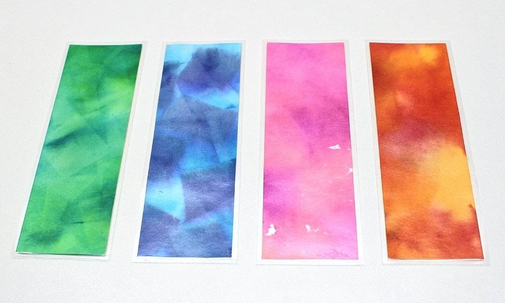 DIY Bleeding Art Tissue Paper Bookmarks