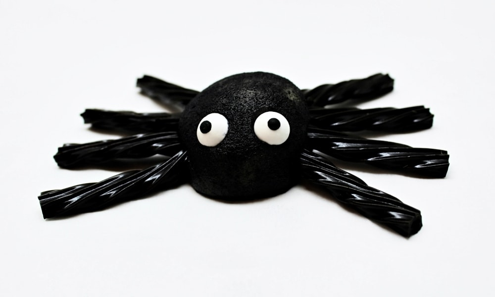Edible Marzipan Spiders