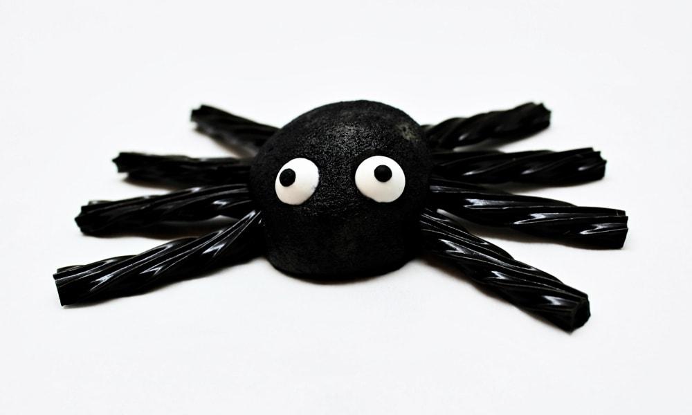 Edible Marzipan Spiders