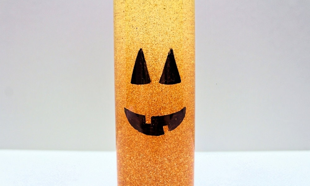 Jack-o'-Lantern Sensory Bottle for Halloween