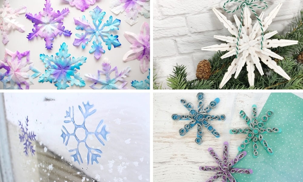 Easy Snowflake Crafts for Winter