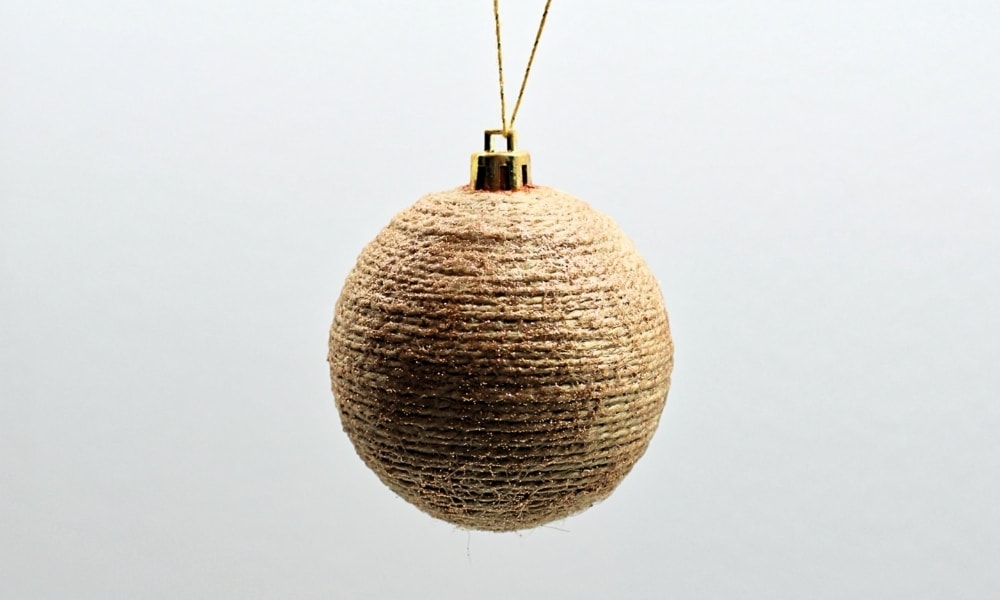 DIY Rustic Twine-Wrapped Christmas Ornaments
