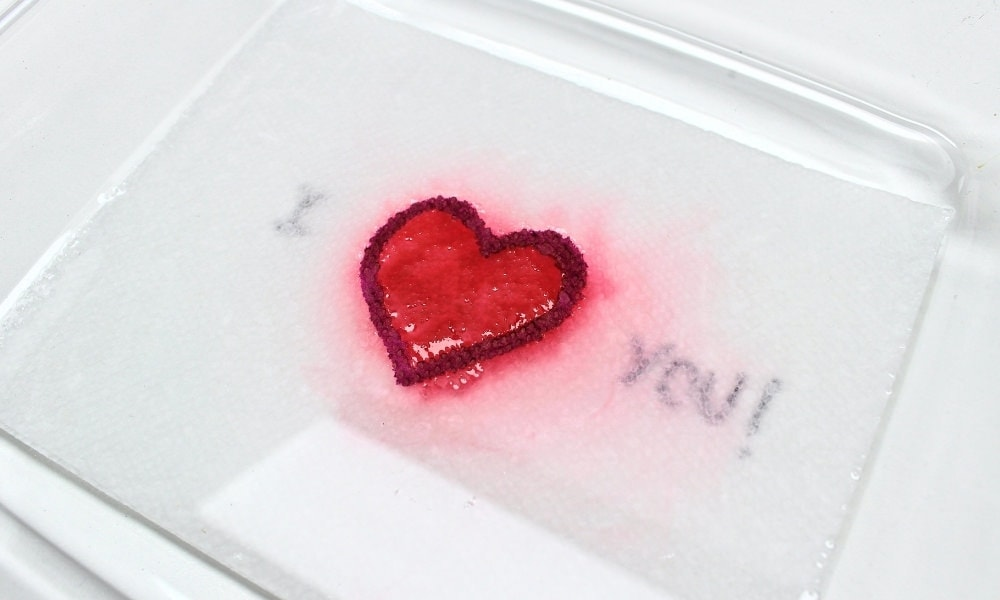 Valentine's Day Magic Paper Towel Art for Kids