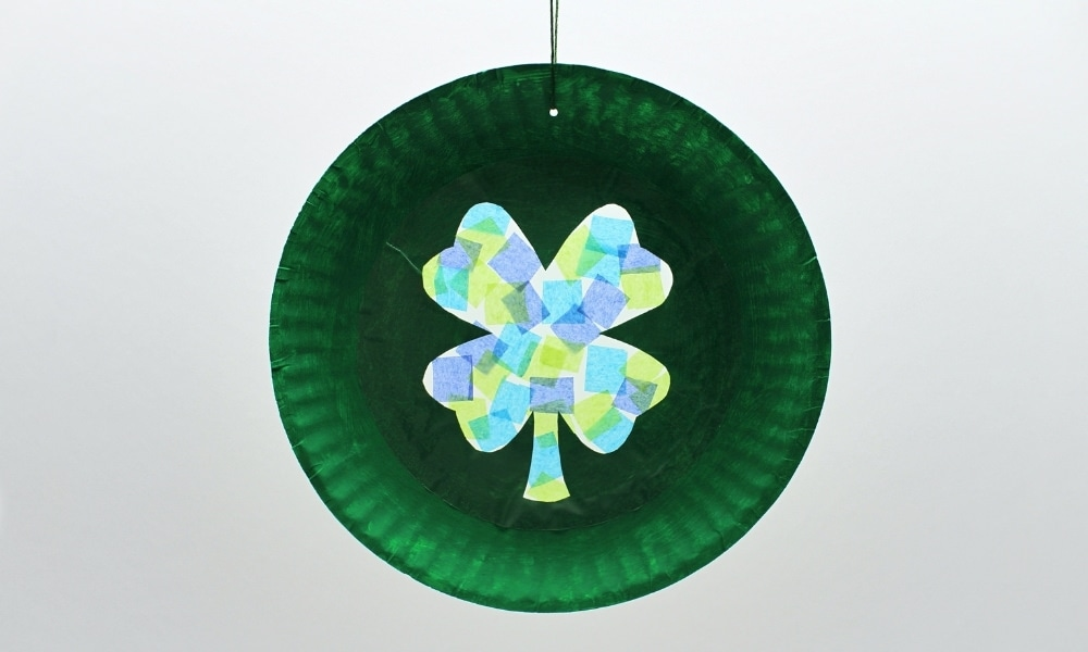 Four-Leaf Clover Suncatcher with Free Template