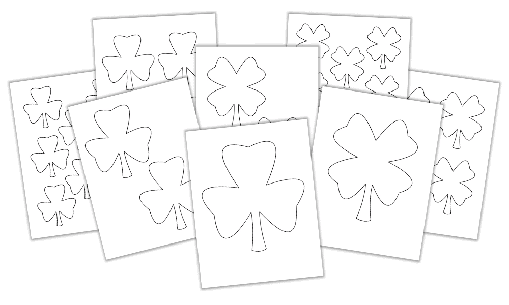 Free Shamrock & Four-Leaf Clover Templates