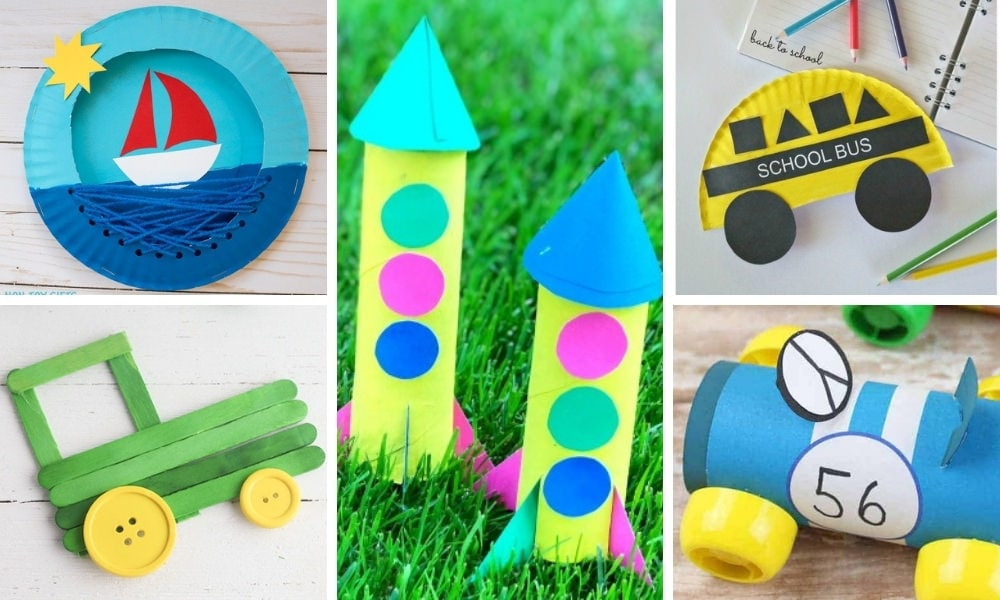 39 Preschool Transportation Crafts for Preschoolers