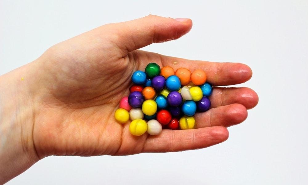 Edible Rainbow Water Beads Using Tapioca Pearls