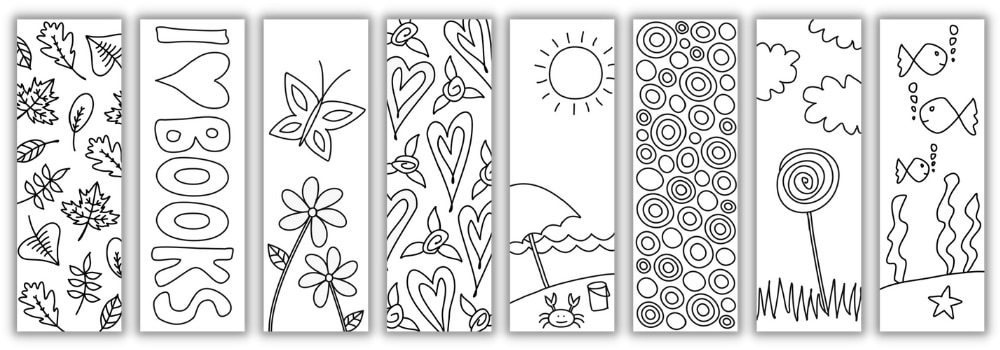 8 Free Coloring Bookmarks