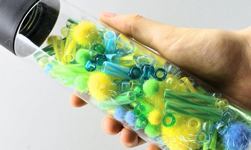 Easy Musical Pom-Pom Sensory Bottle