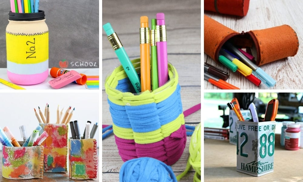 30+ DIY Pencil Holders Made from Recycled & Upcycled Materials