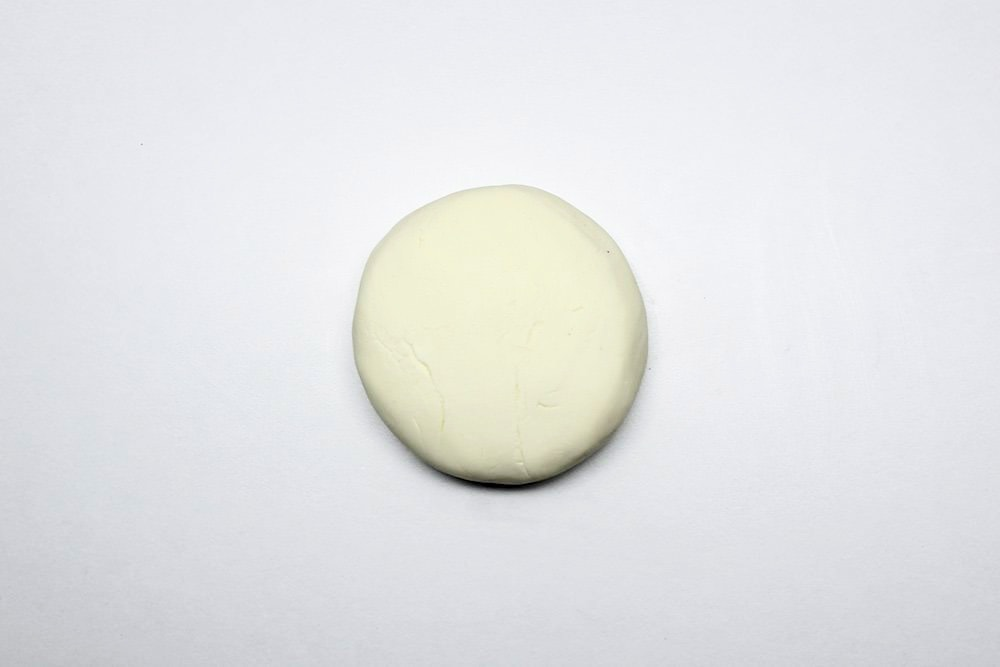 Smooth Ball of Vanilla Frosting Play Dough