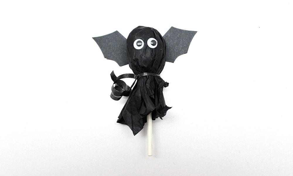 Bat Lollipop Craft for Kids