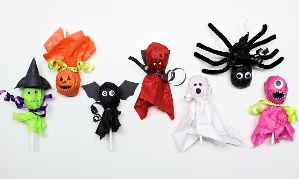 7 Cute Halloween Lollipop Crafts for Kids