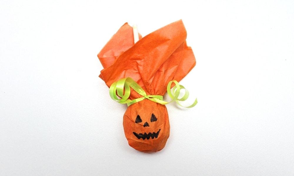 Jack-o'-Lantern Lollipop Craft for Kids